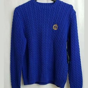 Lauren Ralph Lauren Cable Knit Sweater with Crest